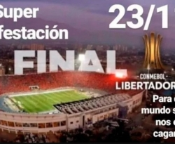 Supermanifestação é convocada para o dia da final entre River e Flamengo no Chile